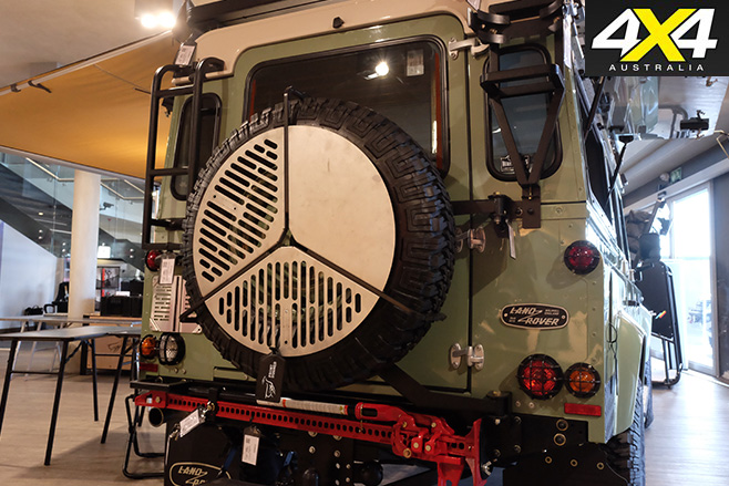 Land Rover fitted with Front Runner gear