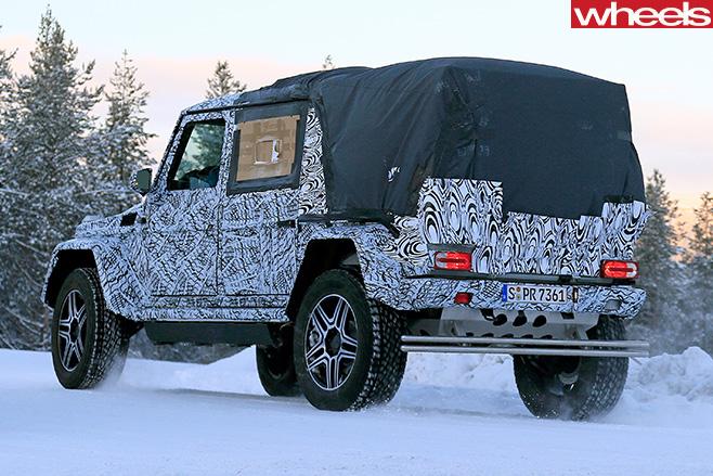 Mercedes -Benz -G500-4x 4-utility -rear -side