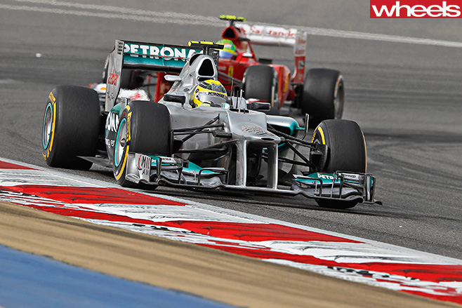 Formula -One -car -Mercedes -driver -Nico -Rosberg -F1-track