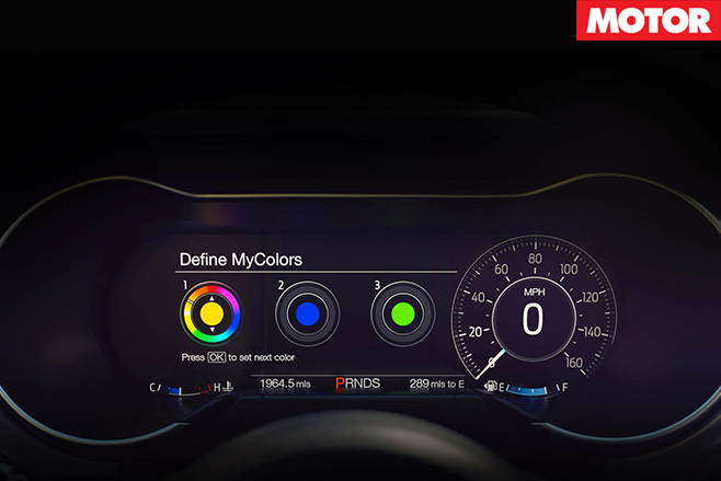 2018 Ford mustang 12-inch display
