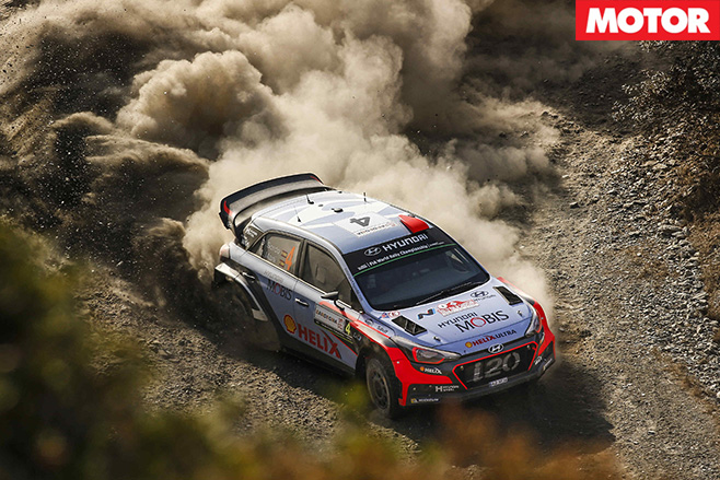 Hyundai i20 WRC car