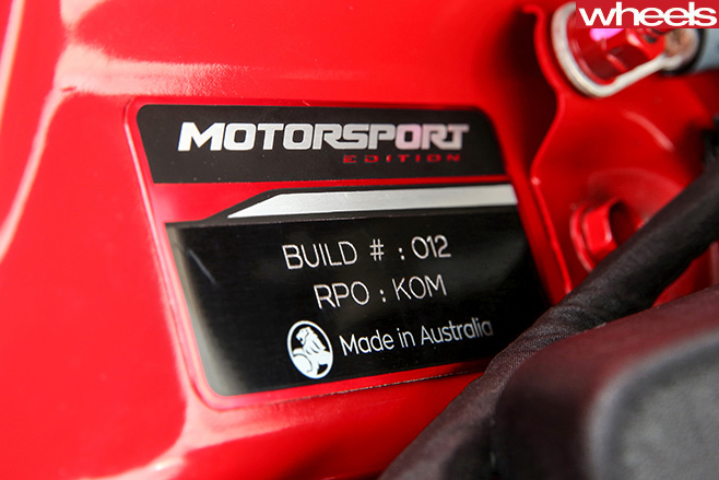 Holden -Commodore -Motorsport -special -edition -build -date