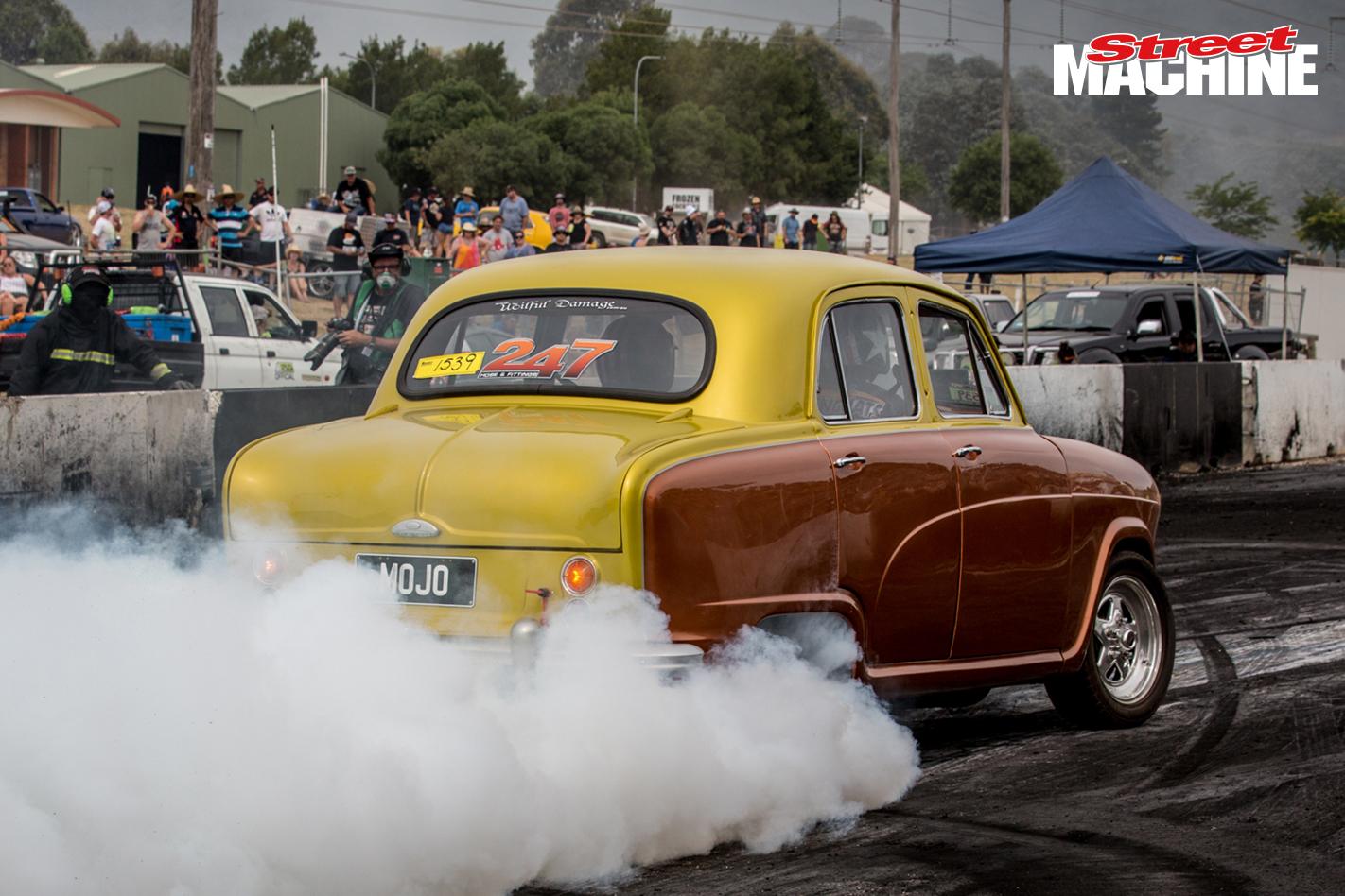 Austin A50 V8 Burnout 2