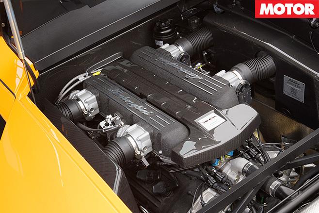 Lamborghini Murcielago SV engine