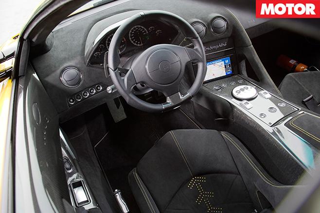 Lamborghini Murcielago SV cabin