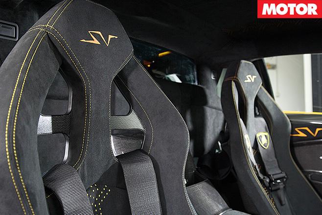 Lamborghini Murcielago SV seats