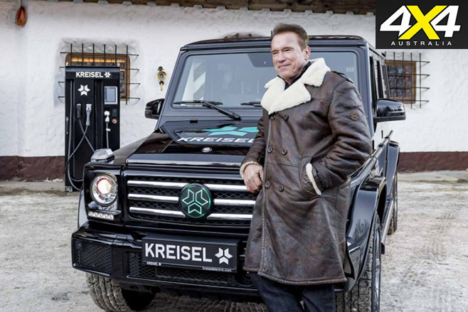 Kreisel electric Mercedes-Benz G-Wagen and Arnie