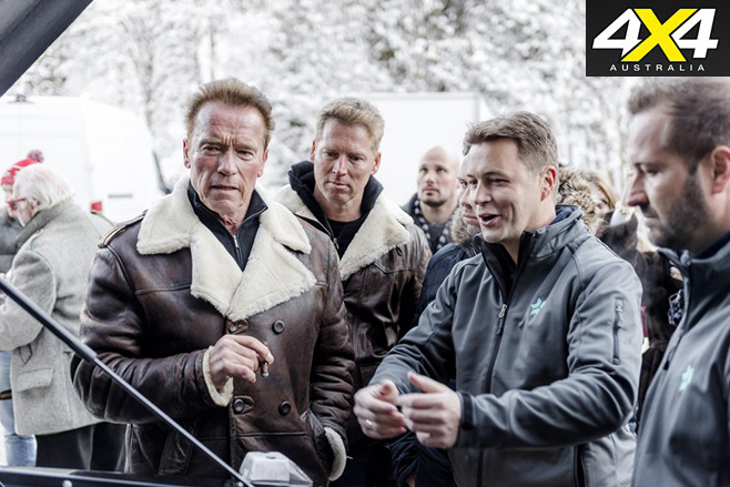 Arnold Schwarzenegger with others