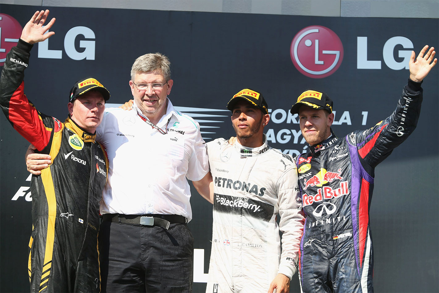 Ross Brawn podium