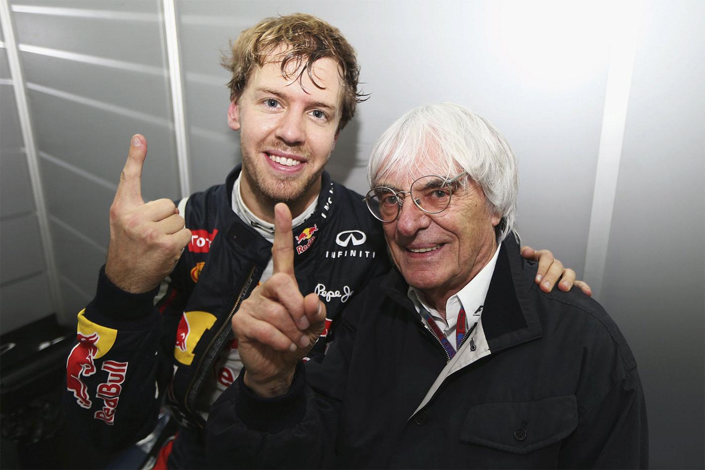 Bernie Ecclestone Sebastien Vettel