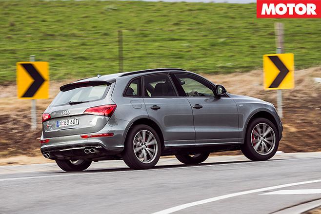 Audi SQ5 Plus rear driving