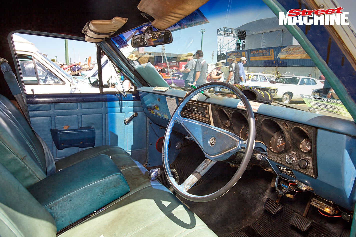 Holden NRMA Van Old Interior