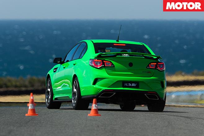 HSV GTSR rear turning