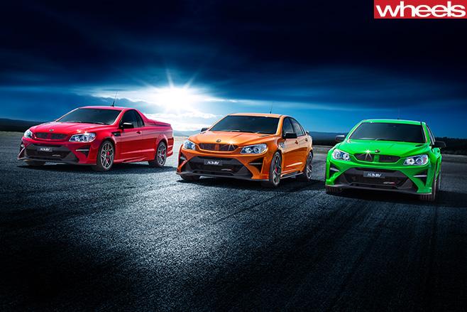 2017 HSV Australian sedan range