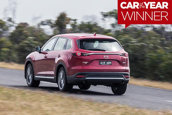 2017-Mazda -CX-7-driving -rear