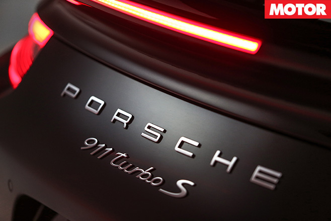 Porsche 911 turbo s rear badge