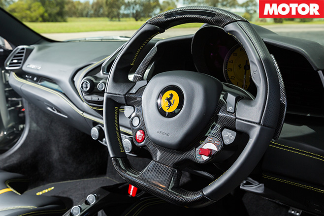 Ferrari 488 GTB steering wheel