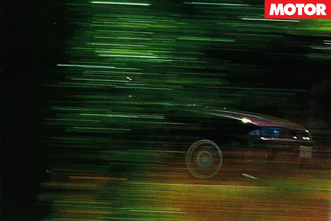 Nissan -GTR-driving -through -forest
