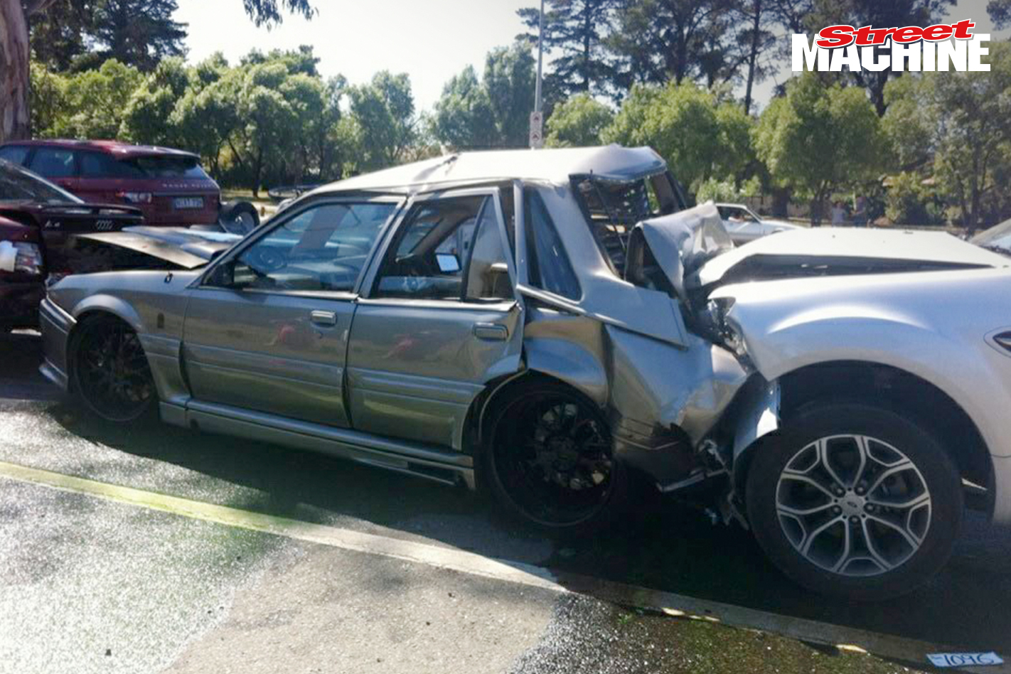 VL Commodore Blown 2ANGRY Crash