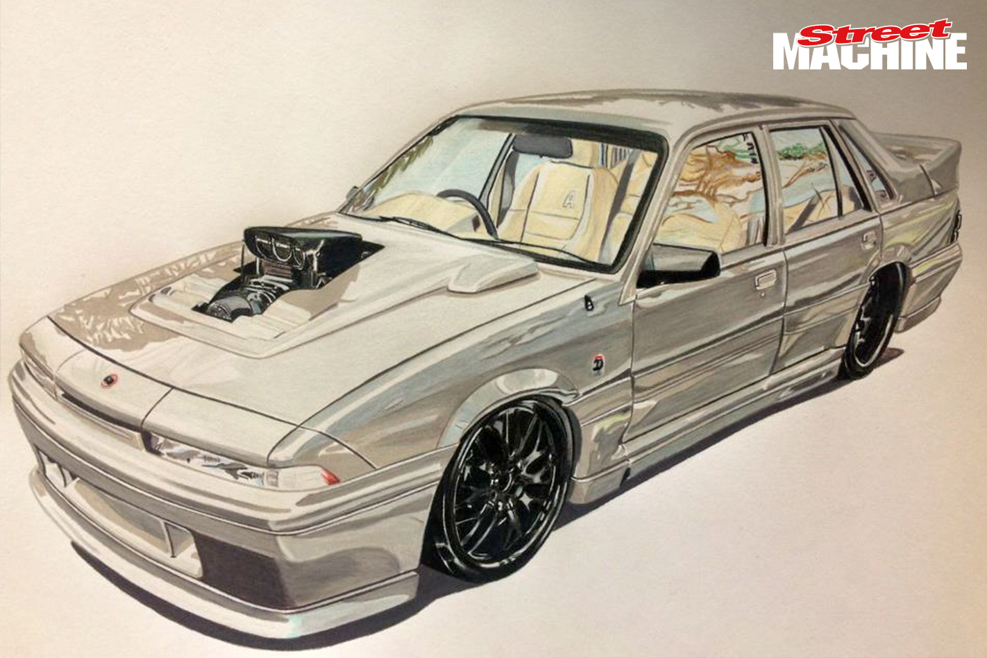 VL Commodore Blown 2ANGRY Sketch