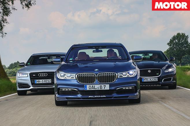 Alpina B7 vs Audi S8 Plus vs Jaguar XJR