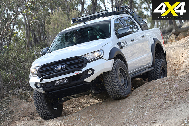 Harrop Ford Ranger driving downhill