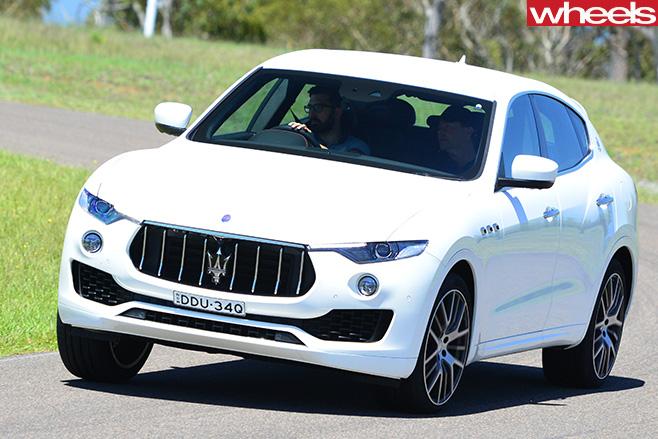 2017-Maserati -Levante -front -driving