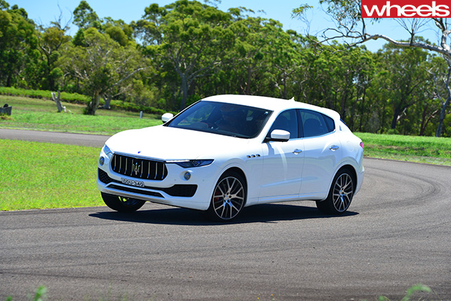2017-Maserati -Levante -side -front -driving