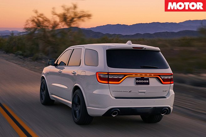 Dodge Durango SRT rear driving