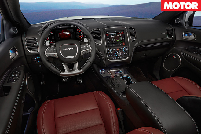 Dodge Durango SRT interior