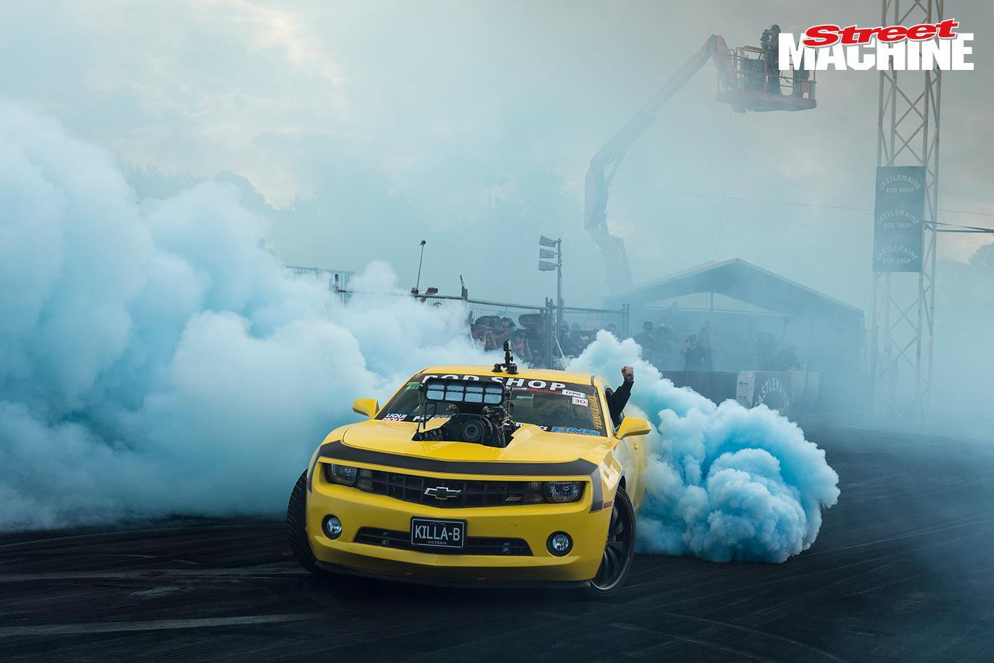 Blown Camaro Burnout KILLAB 1
