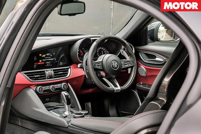 2017 Alfa Romeo Giulia QV interior