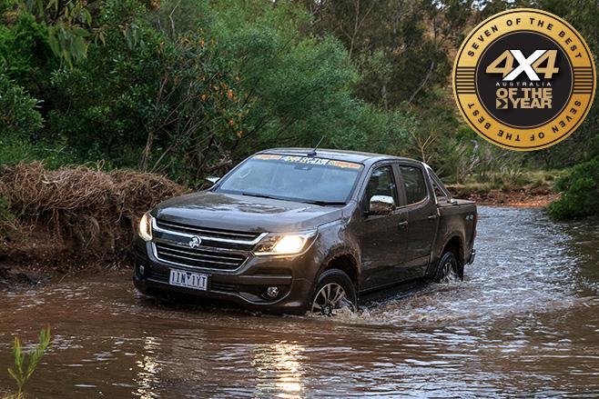 Holden Colorado LTZ-water driving
