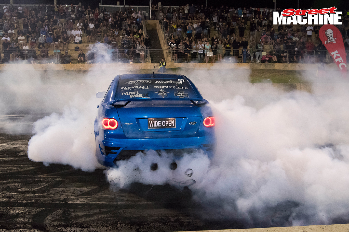 HSV Clubsport Blown Burnout WIDEOPEN