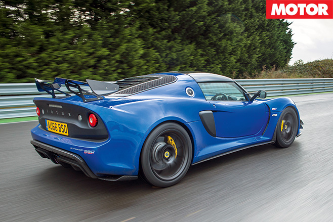 2017 Lotus Exige Sport 380 rear