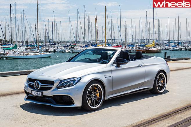 Mercedes -AMG-C63-Cabriolet -front -side
