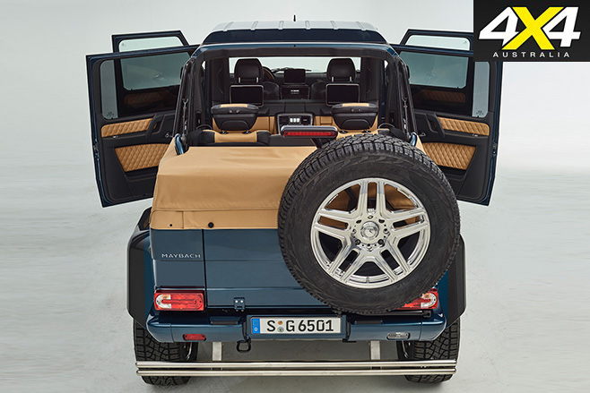Mercedes Maybach G650 Landaulet rear doors