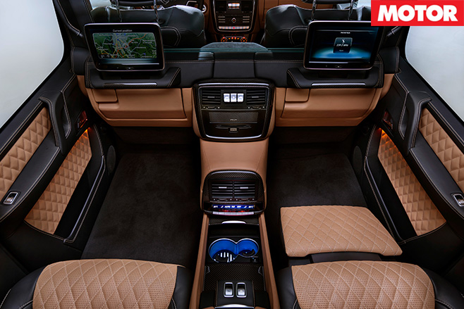 Mercedes Maybach G650 Landaulet rear interior