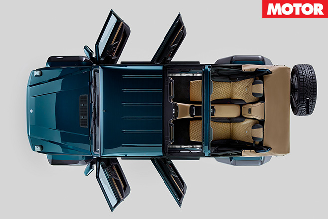 Mercedes-Maybach G650 Landaulet top view
