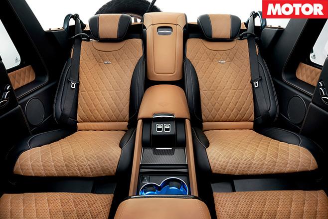 Mercedes-Maybach G650 Landaulet rear seats