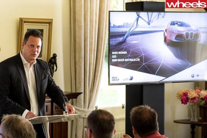 Marc -Werner -BMW-presentation -about -electric -car -program
