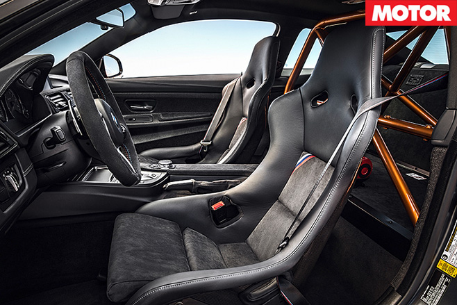 2017 BMW M4 GTS interior seats and cage