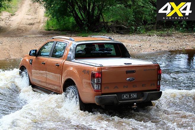Ranger Wildtrak rear driving