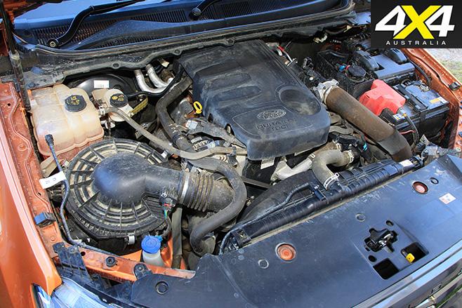 Ford Ranger Wildtrak engine