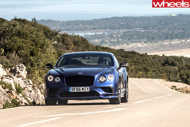 2017-Bentley -Continental -GT-Speed -driving -front