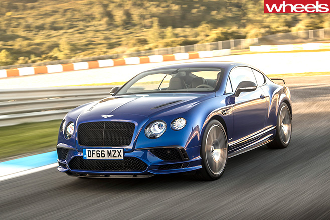 2017-Bentley -Continental -GT-Speed -driving -front -side