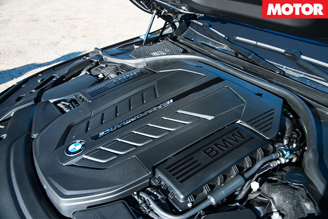 2017 BMW M760iL xDrive engine