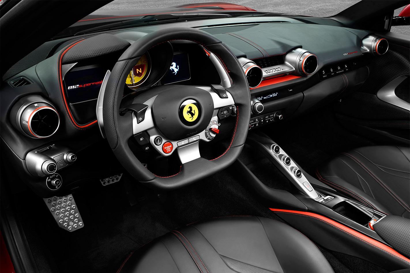 2017 Ferrari 812 Superfast interior