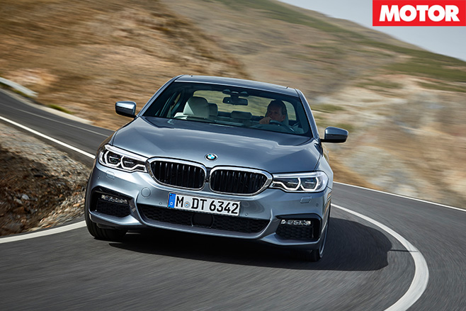2017 BMW 540i front