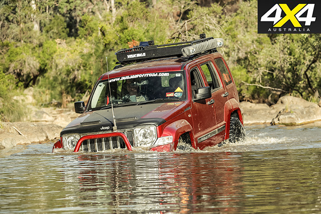 Custom Jeep Cherokee Limited water driving